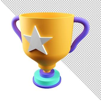 3d-rendering-trophäe-cup-symbol champion award-sieg-konzept