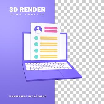 3d-rendering, um die besten mitarbeiter zu finden.