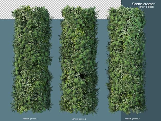 3d-rendering verschiedener arten von grünland