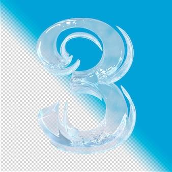 3d-rendering von eisnummer 3