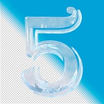 3d-rendering von eisnummer 5