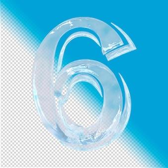 3d-rendering von eisnummer 6