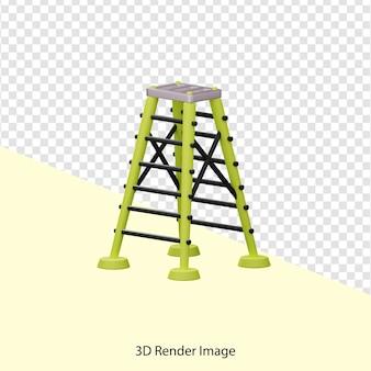 3d-rendering von falttreppen