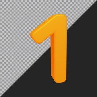 3d-rendering von nummer 1