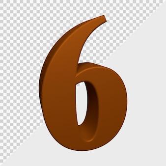 3d-rendering von nummer 6