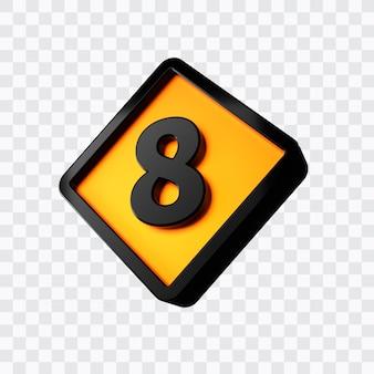 3d-rendering von nummer 8