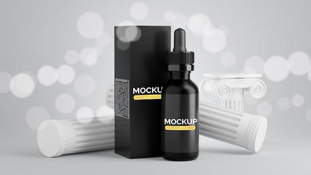3d-rendering von serum für mockup-branding