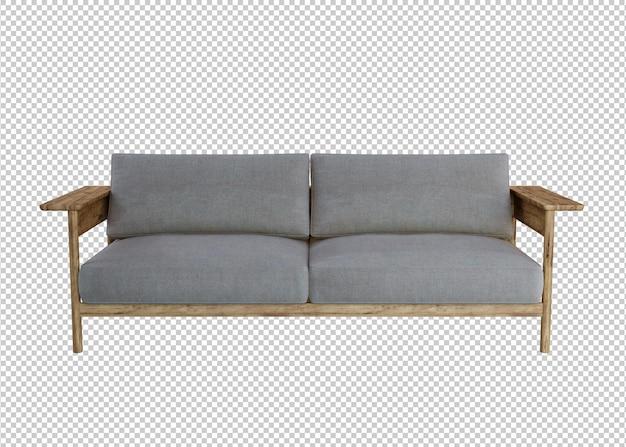 3d-rendering von sofa