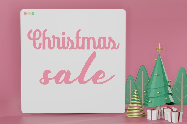 3d-rendering von weihnachten leer modell online einkaufen
