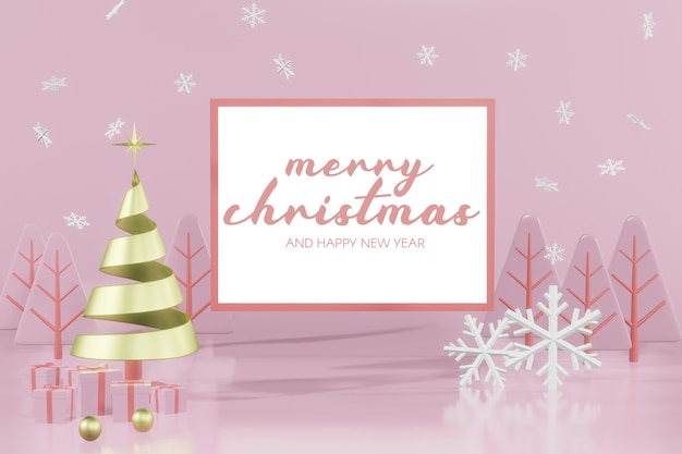 3d-rendering-weihnachtspodestmodell