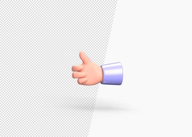3d-rendering wie oder empfohlenes konzept handmodell