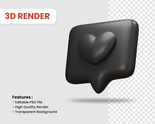 3d-rendering wie symbol isoliert dunkle farbe