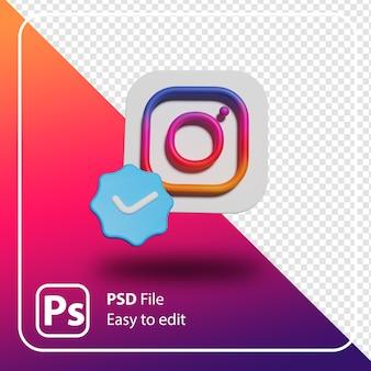 3d rendern instagram minimale logo-illustration isoliert