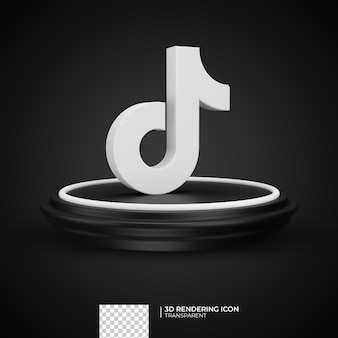 3d rendern tiktok icon design