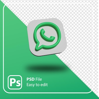 3d rendern whatsapp minimales logo