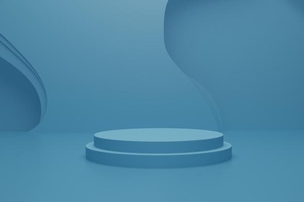 3d-renderpodiumsszene auf dem boden für produkt