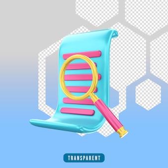 3d-rendersymbol e-commerce-suche (lup)