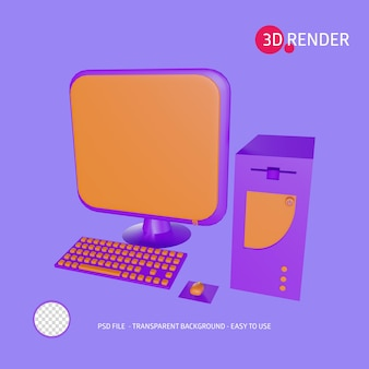 3d-rendersymbol personal computer