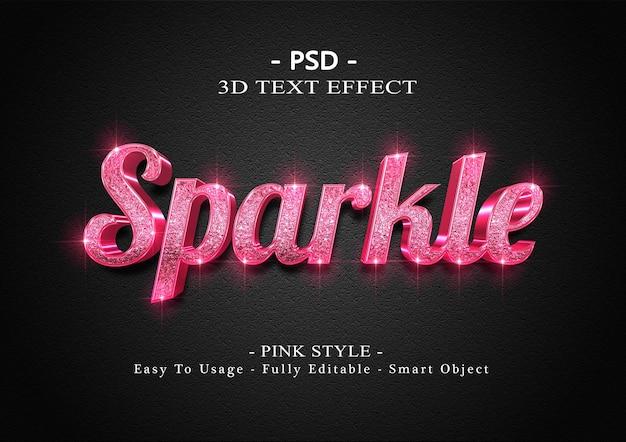3d rosa funkeln texteffekt