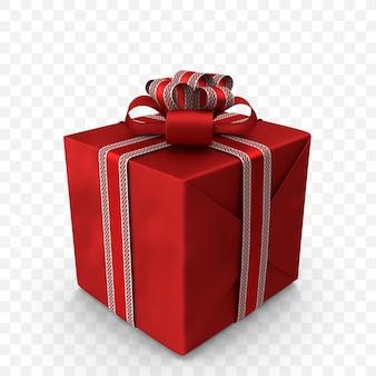 3d rote geschenkbox mit roter seitenansicht