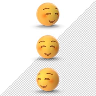 3d schüchternes emoji