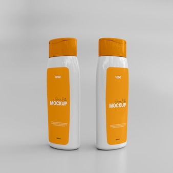 3d-shampooglas-modell aus kunststoff