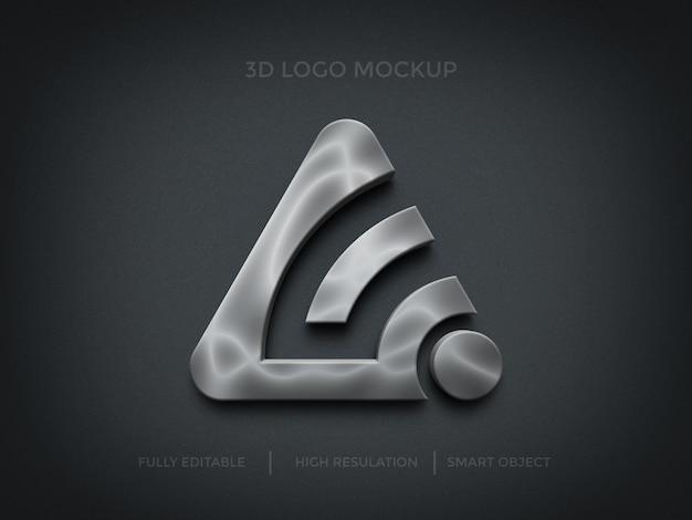 3d-silber-logo-modell