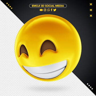 3d social media emoji für die komposition