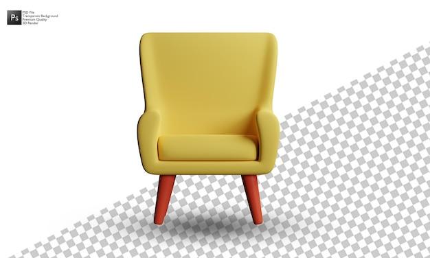 3d-sofa-illustrationsdesign auf weißem hintergrund