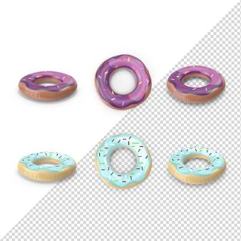 3d sommer donut pool float isoliert