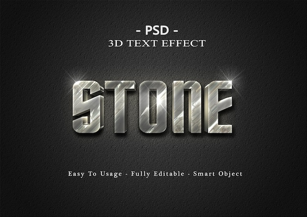 3d steinext-effektschablone