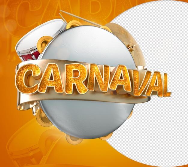 3d stempel karneval für brasilianische gedenkfeier