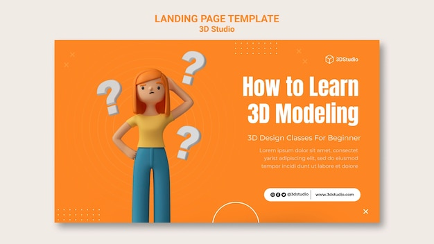 3d-studio-landingpage-vorlage