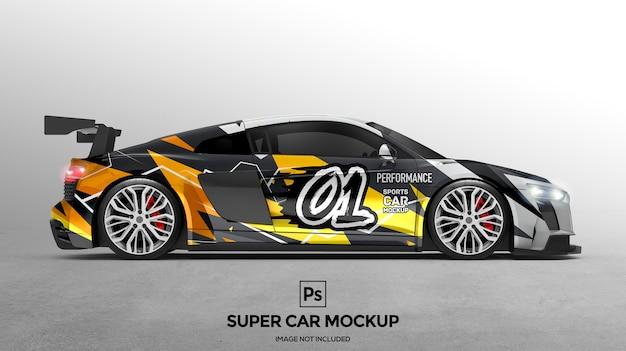 3d super car mockup design präsentationen