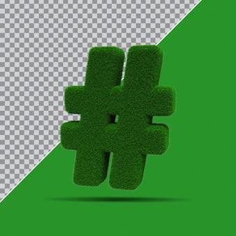 3d-symbol aus gras