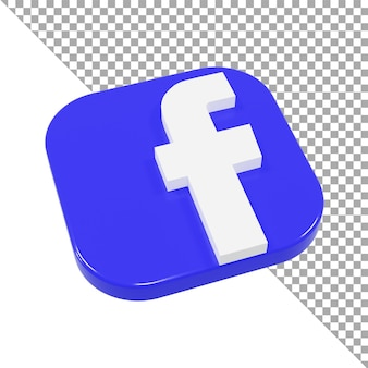 3d-symbol logo facebook minimalistisch isometrisch
