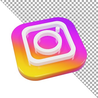 3d-symbol logo instagram minimalistisch isometrisch