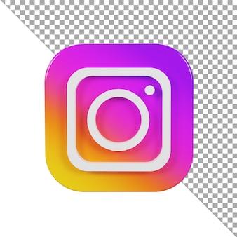 3d-symbol logo instagram minimalistisch