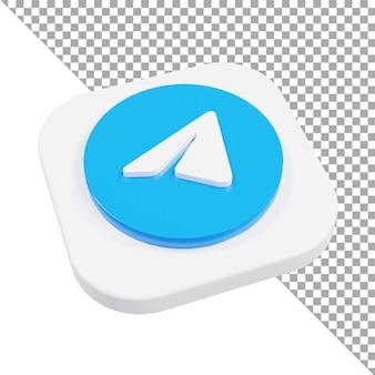 3d-symbol-logo-telegramm minimalistisch isometrisch