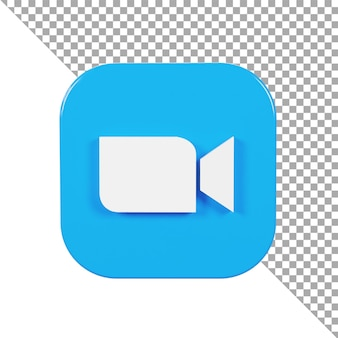 3d-symbol logo zoom minimalistisch