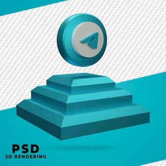3d-telegramm-rendering isoliert