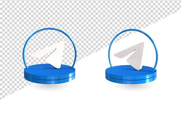 3d-telegrammikone isoliertes design