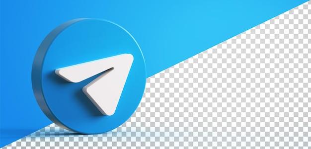3d-telegrammkreistasten-symbol isoliert
