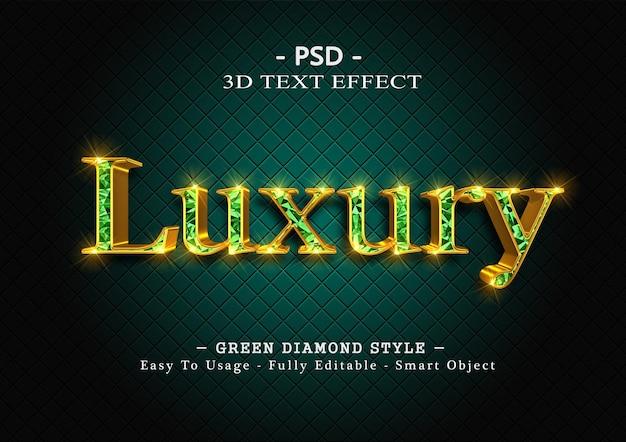 3d-text-effekt mit grüner raute