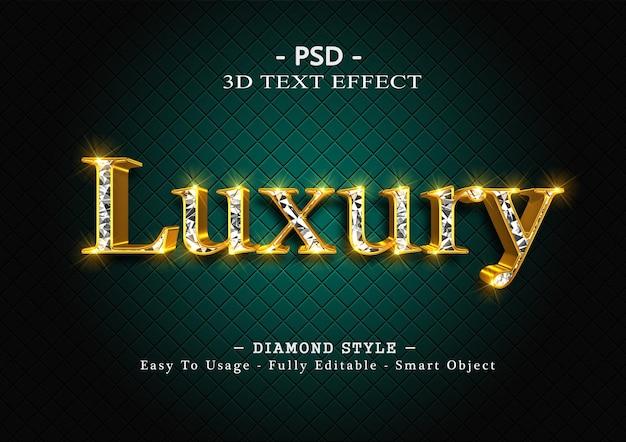 3d-texteffekt mit diamanten