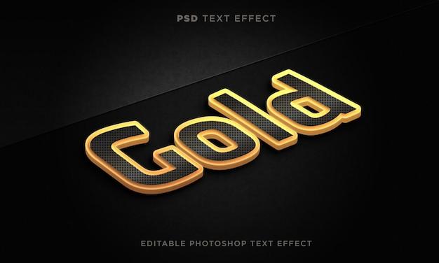 3d-texteffektvorlage aus gold