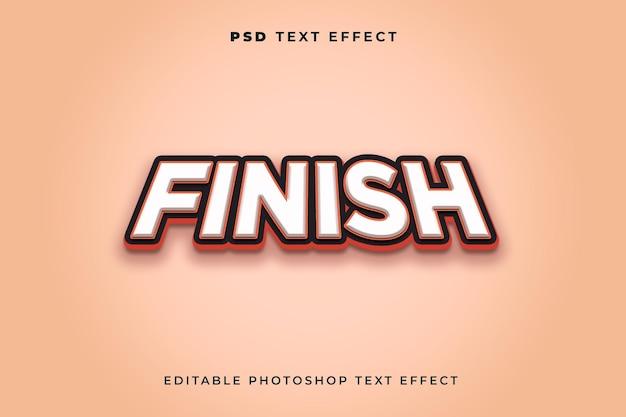 3d-texteffektvorlage für finish