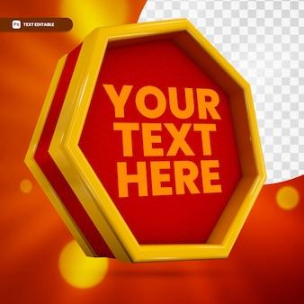 3d textfeld text bearbeitbar