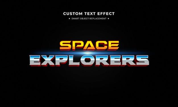 3d-textstileffekt des superheldenfilms