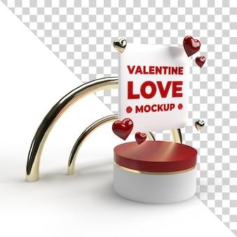 3d-valentinstag-modell rendern isoliert